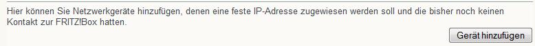 Der Hinweis, dass das Gerät bisher noch keinen Kontakt zur FRITZ!Box gehabt haben darf, kann ignoriert werden.